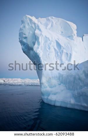Antarctic iceberg in the snow - stock photo