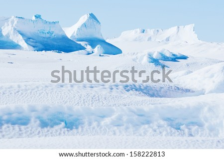 Antarctic landscapes and cold nature. - stock photo