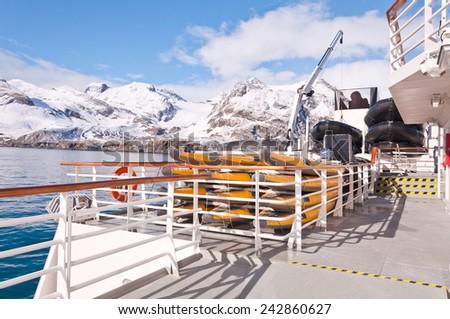 Antarctic Ship - stock photo