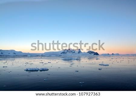 Antarctic Sunrise - stock photo