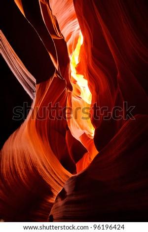 Antelope canyon in Page Arizona - stock photo