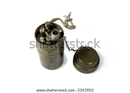 Antena tuner used to match the transceiver and the antena.Used by US troops during WWII. - stock photo