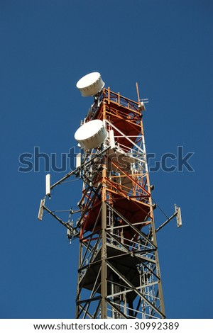 Antenna for cell and radio repeaters - stock photo