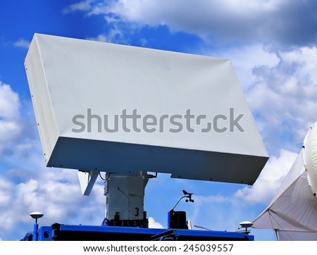 Antenna with the suppression of surface waves with the structure of alternative material belonging to another class - stock photo