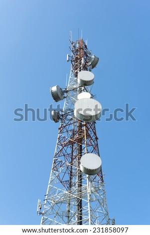 Antennas of cellular systems  - stock photo