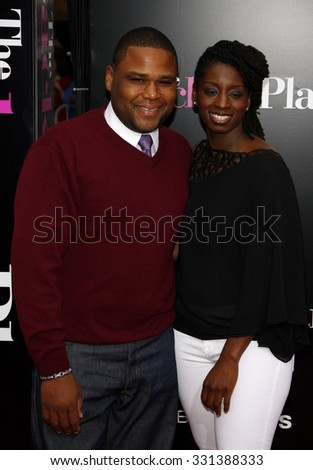 """Anthony Anderson at the Los Angeles premiere of """"The Back-Up Plan"""" held at the Westwood Village Theater in Hollywood, USA on April 21, 2010. - stock photo"""