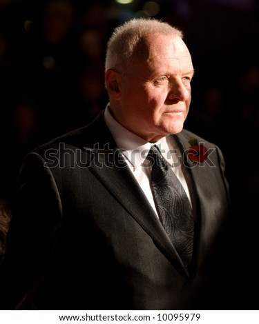 Anthony Hopkins at the european premiere of 'Beowulf' at the Vue cinema on November 11, 2007, London, England. - stock photo