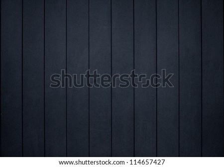 Anthracite wood planks background - stock photo