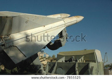 Anti aircraft missiles - stock photo