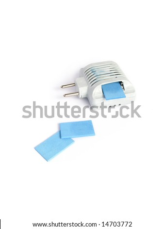 Anti-mosquito fumigator with a repellent sticks - stock photo