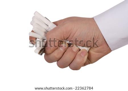 anti-smoking image, isolated on white background - stock photo