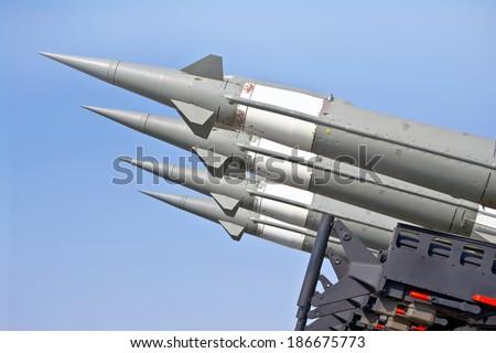 antiaircraft missiles - stock photo