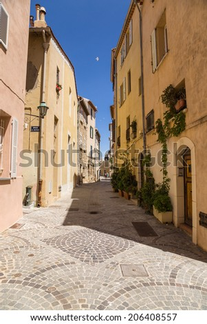 Antibes, France. Old town - stock photo