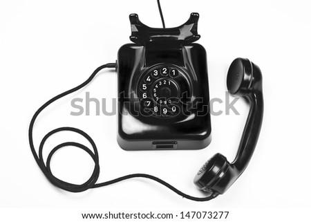 antic phone - stock photo