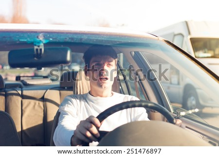 anticipating an accident - stock photo