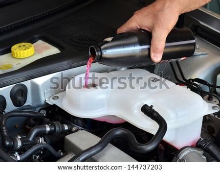 Antifreeze, coolant - stock photo