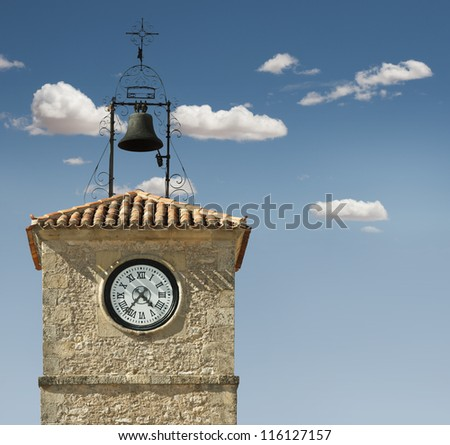 Antique clock on a building - stock photo