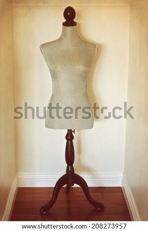 Antique dress form mannequin - stock photo