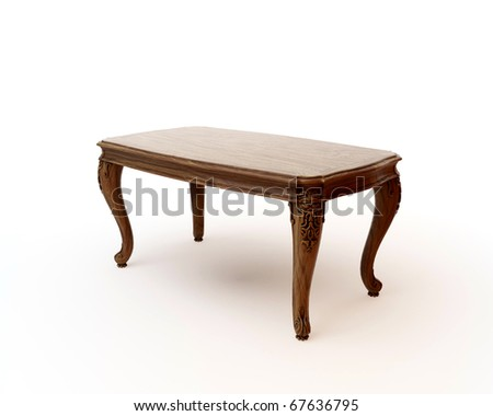 Antique End Table - stock photo