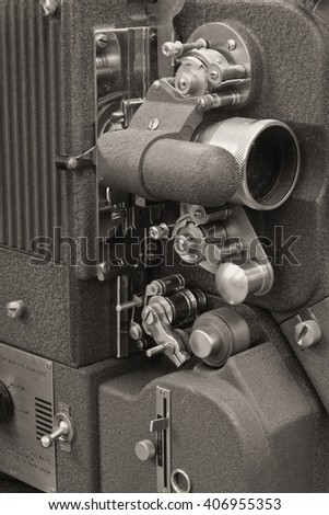 Antique Film Projector from the 1920s or 1930??s I - stock photo