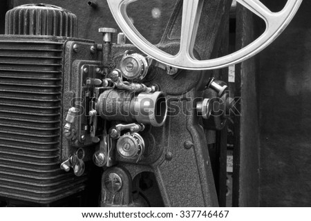 Antique Film Projector III - Antique Film Projector from the 1920??s or 1930?s - stock photo