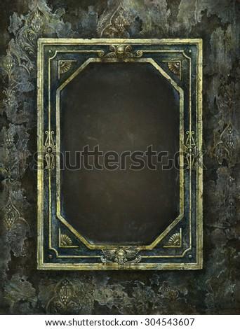Antique frame - stock photo
