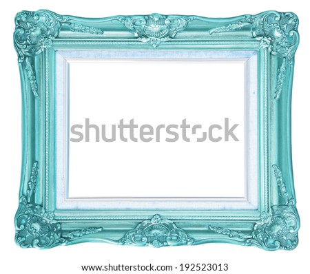 antique frame isolated on white background, clipping path - stock photo
