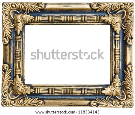 Antique frame isolated on white background with clipping path - stock photo