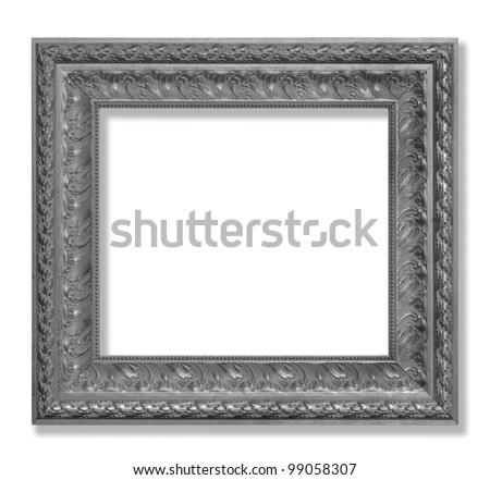 Antique frame on the white background - stock photo