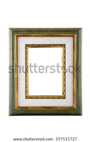 Antique  frame with the mat,  classic style - stock photo