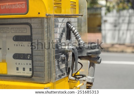 Antique gas station pump - stock photo