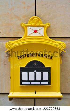 Antique German mail box - stock photo
