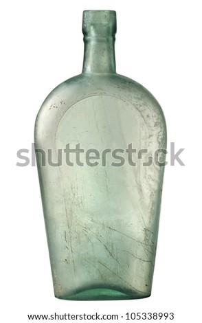 Antique Glass Bottle - stock photo