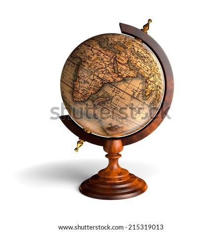 Antique globe - stock photo