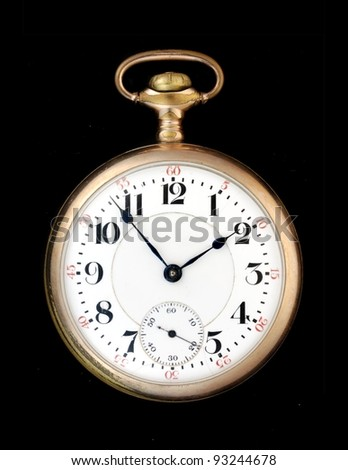 antique gold pocketwatch - stock photo