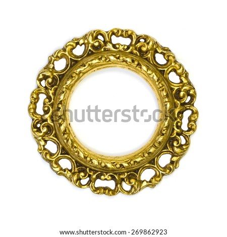 Antique golden frame - stock photo
