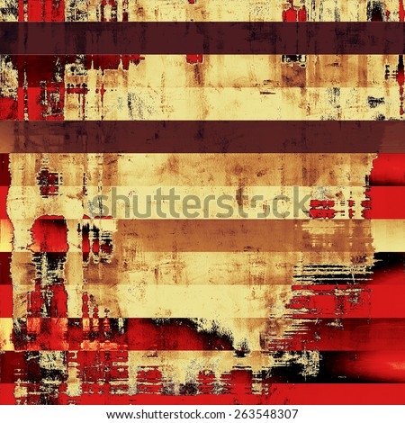 Antique grunge background with space for text or image. With different color patterns: yellow (beige); brown; red (orange) - stock photo