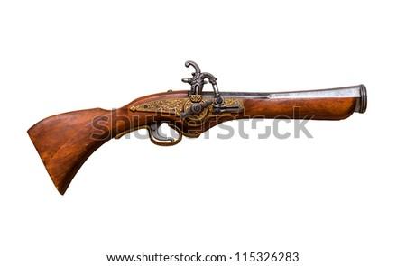 Antique gun - stock photo