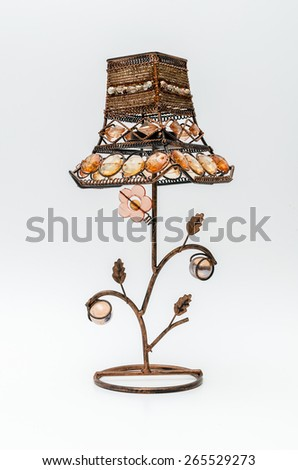 Antique lamp isolated on white background - stock photo