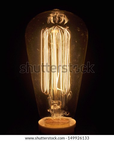 antique light bulb - stock photo