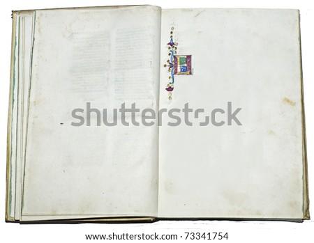 Antique manuscript letter - stock photo