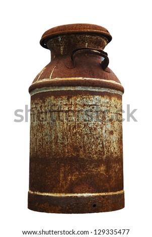 antique milk jug - stock photo