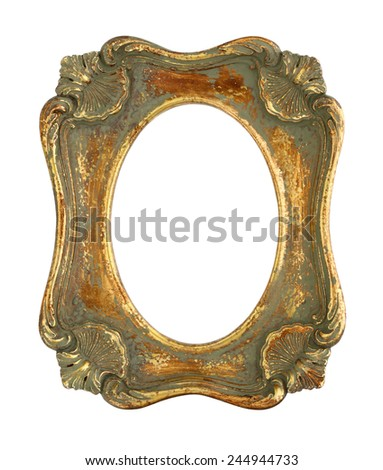 Antique Picture Frame with Oval Opening - stock photo