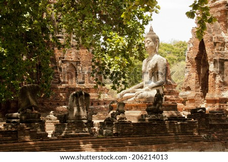 Antique Statue of Buddha - stock photo
