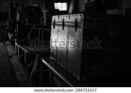 Antique suitcase - stock photo