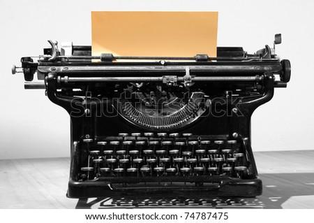 Antique type writer. - stock photo