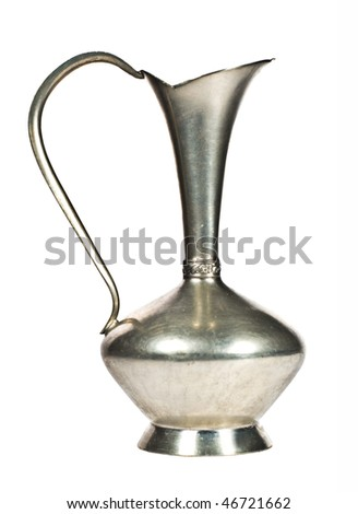 Antique Vase / Decanter On White - stock photo