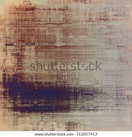 Antique vintage background. With different color patterns: yellow (beige); brown; blue; gray - stock photo