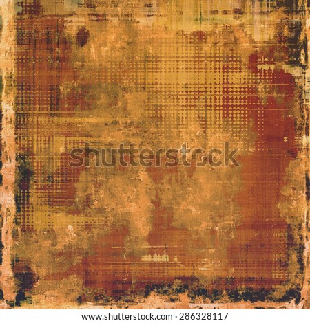 Antique vintage background. With different color patterns: yellow (beige); brown; gray; black - stock photo