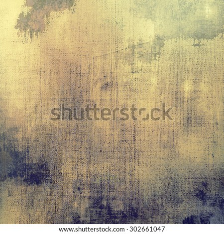 Antique vintage texture, old-fashioned weathered background. With different color patterns: yellow (beige); brown; blue; gray - stock photo